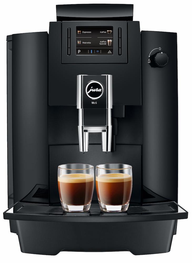 Jura We6 Piano Black Professional Automatic Coffee Machine - Crema