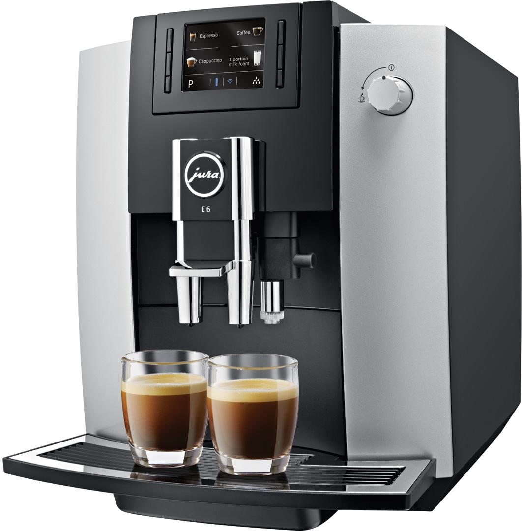 jura e6 automatic coffee machine crema. Black Bedroom Furniture Sets. Home Design Ideas
