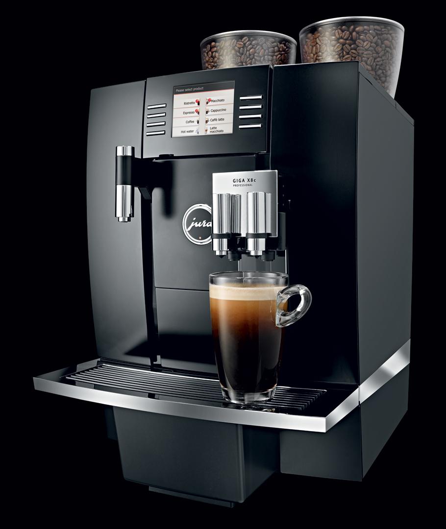 jura giga x8c professional coffee machine crema. Black Bedroom Furniture Sets. Home Design Ideas
