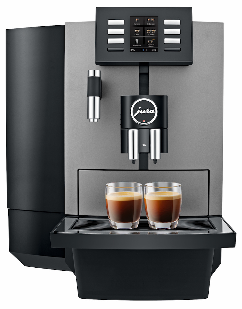 Jura X6 Dark Inox automatic coffee machine - Crema