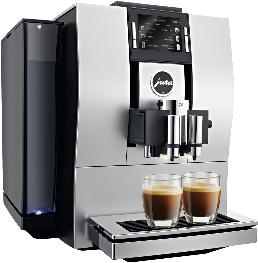 jura z6 aluminium automatic coffee machine crema. Black Bedroom Furniture Sets. Home Design Ideas