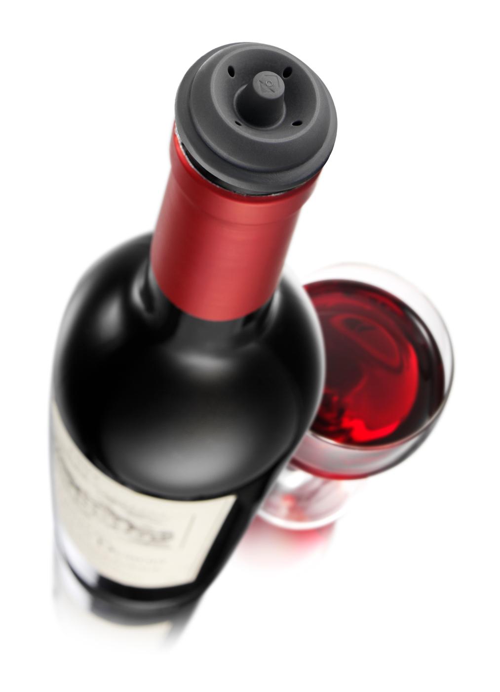 new product 312e6 c161c Vacu Vin Wine Stopper korkit 2 kpl - Crema
