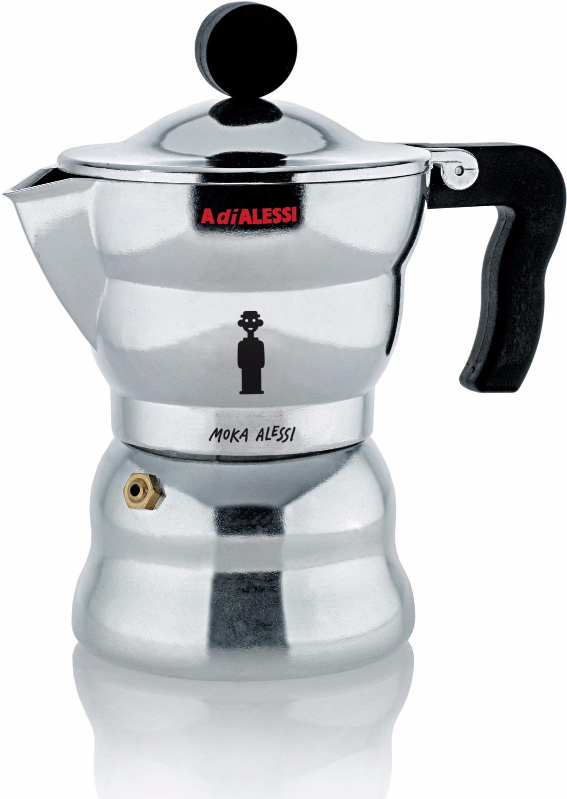 Moka Alessi Aam33 Espresso Coffee Maker Crema