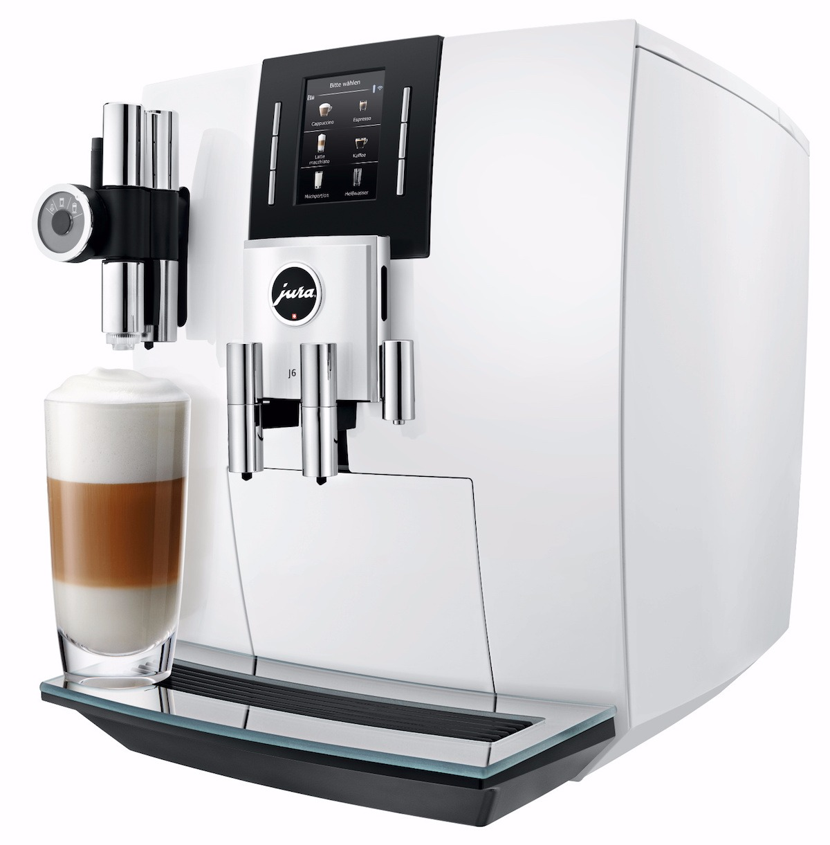 Jura J6 Piano White Automatic Coffee Machine Crema
