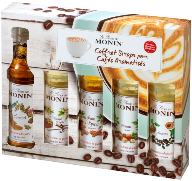 Monin Coffee Set 5 X 50 Ml Syrups Crema