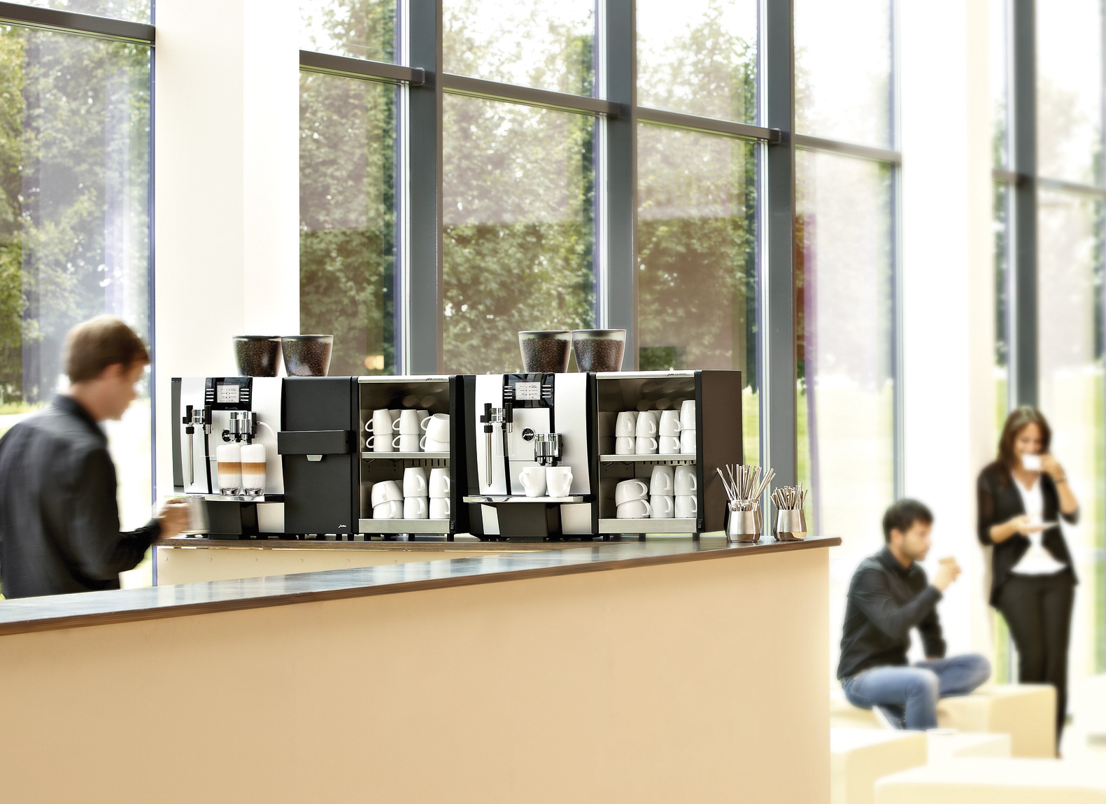 Jura Giga serios coffee machines in an office