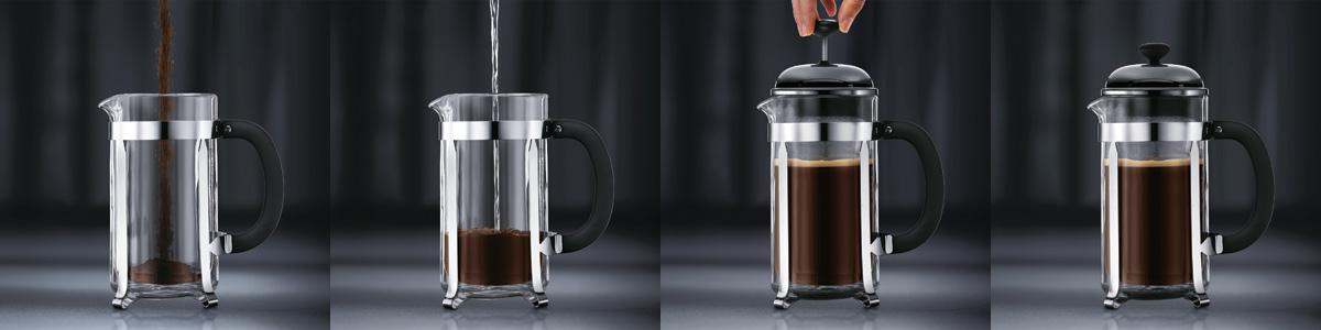 göra kaffe i kaffepress
