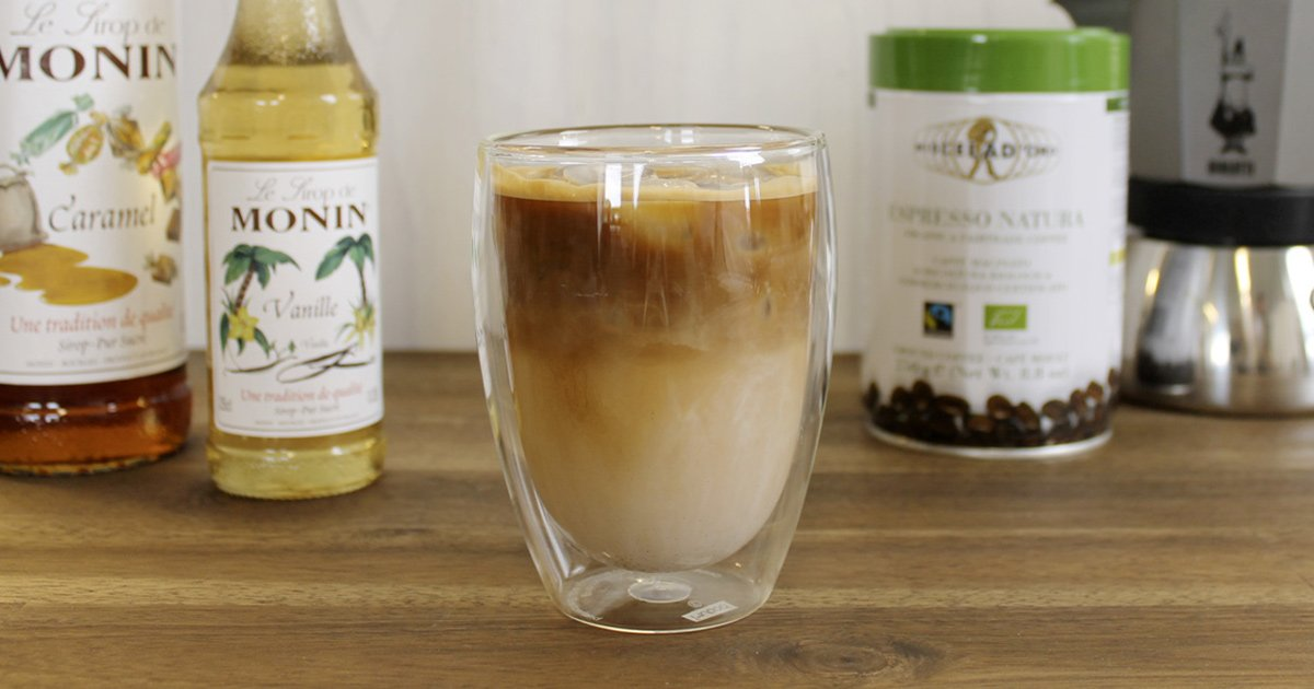 Iced latte recipe for hot summer days