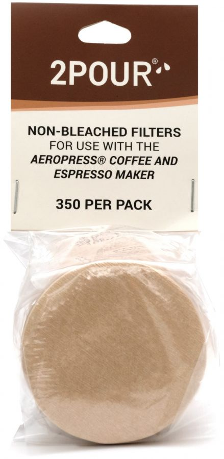 2POUR® Non Bleached Coffee Filters for AeroPress 350 pcs