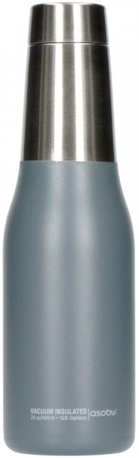 Asobu Oasis Water Bottle 600 ml, harmaa