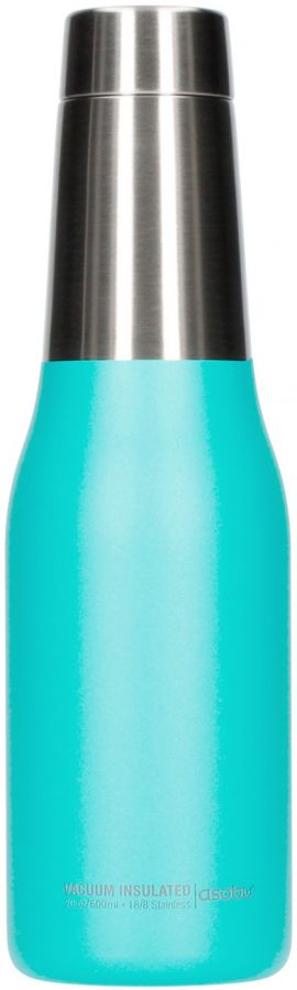 Asobu Oasis Water Bottle 600 ml, turkoosi
