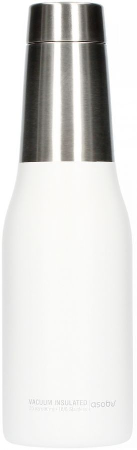 Asobu Oasis Water Bottle 600 ml, valkoinen