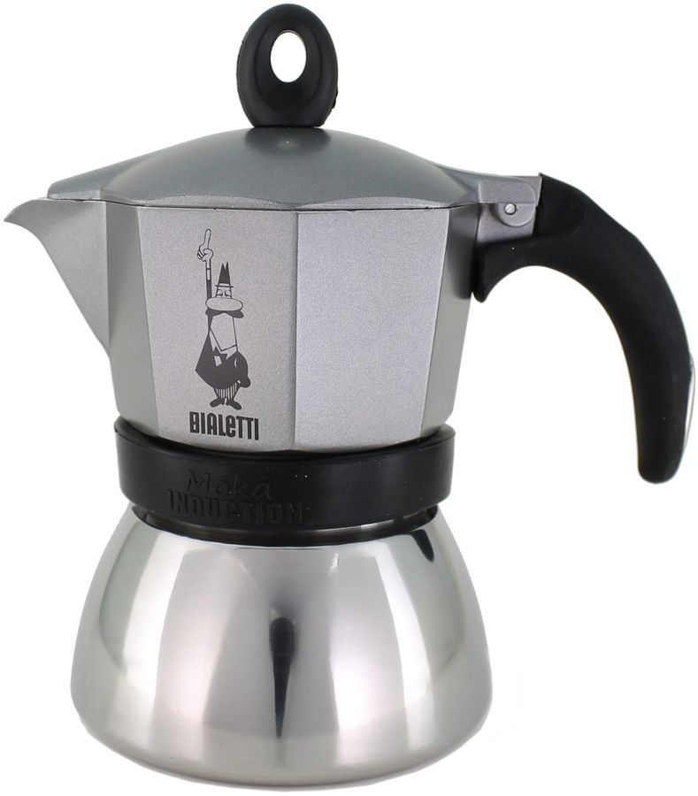 Bialetti Moka Induction Anthracite 3 Cup Stovetop Espresso Maker