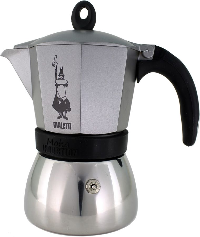 Bialetti Moka Induction Anthracite 6 kupin mutteripannu