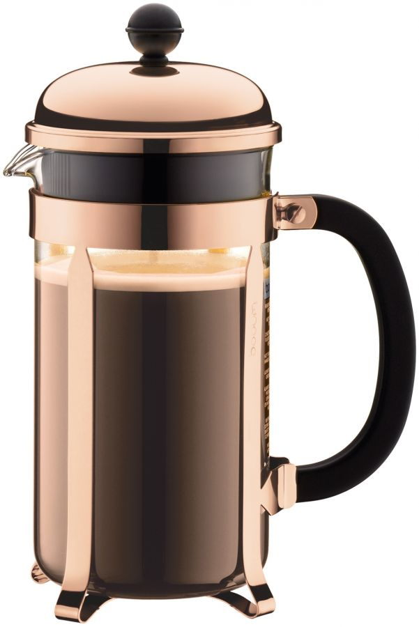 Bodum Chambord 8 cup French press coffee maker (1,0 litres) copper