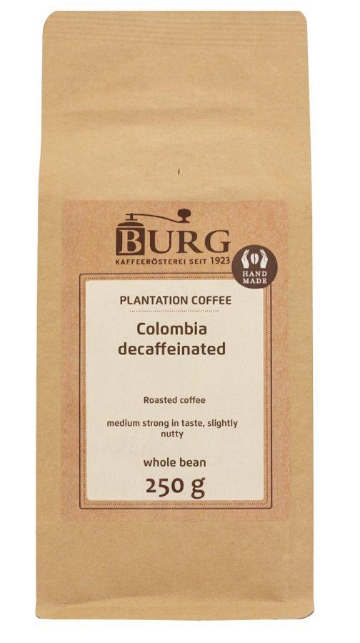 Burg Colombia Excelso kofeiiniton kahvi 250 g kahvipapuja