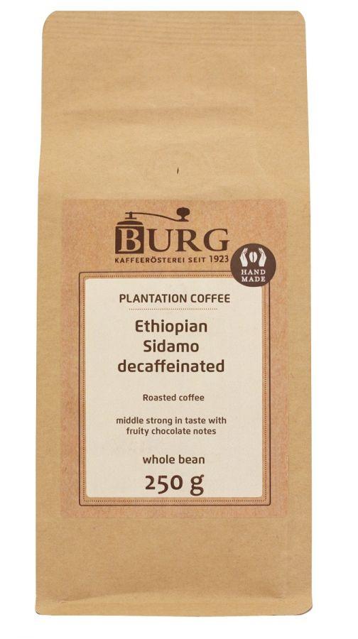 Burg Ethiopia Sidamo kofeiiniton kahvi 250 g kahvipapuja
