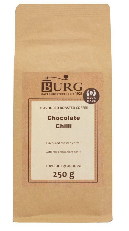 Burg smaksatt kaffe choklad chili 250 g