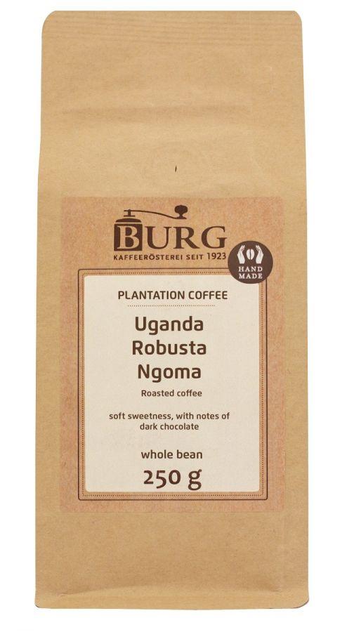 Burg Uganda Robusta Ngoma 250 g kahvipapuja