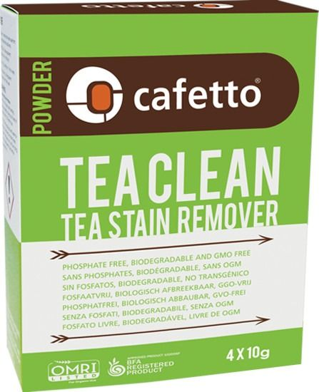 Cafetto Tea Clean ekologinen puhdistusjauhe 4 x 10 g pussi