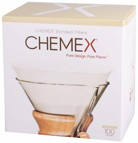 Chemex Pre-folded Circles pyöreät suodatinpaperit 6, 8 ja 10 kupin kannuun 100 kpl