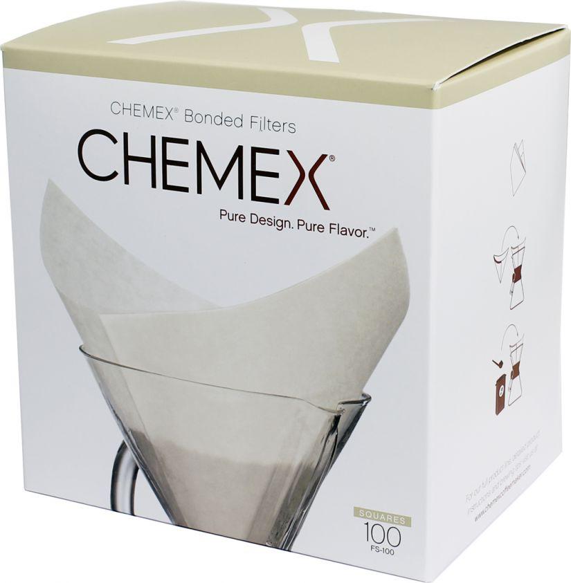 Chemex Pre-folded Squares neliön muotoiset suodatinpaperit 6, 8 ja 10 kupin kannuun 100 kpl