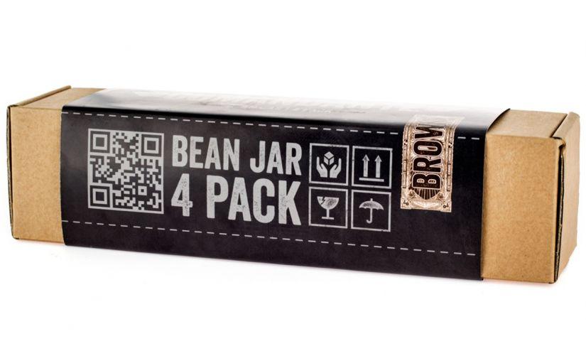 Comandante Bean Jar 4 Pack, Brown Glass