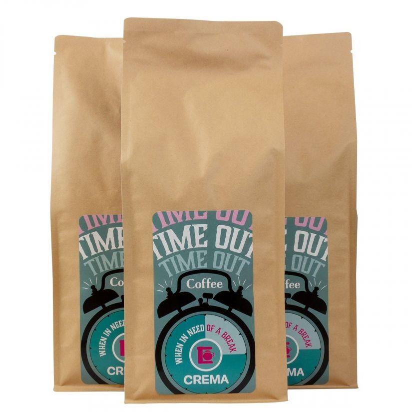 Crema Time Out suodatinkahvi 3 x 1 kg kahvipavut