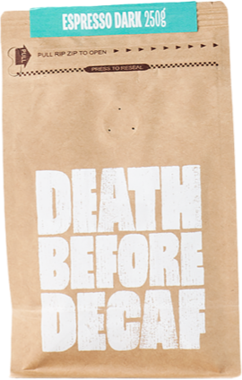 Death Before Decaf Espresso Dark 250 g kahvipavut