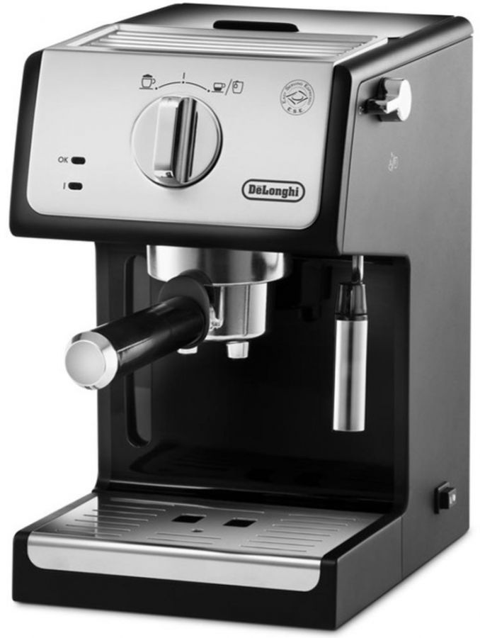DeLonghi ECP33.21.BK espressokeitin, musta/hopea