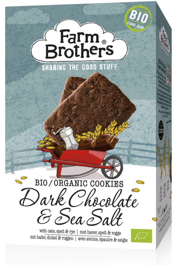 Farm Brothers Organic Dark Chocolate & Sea Salt Cookies 150 g