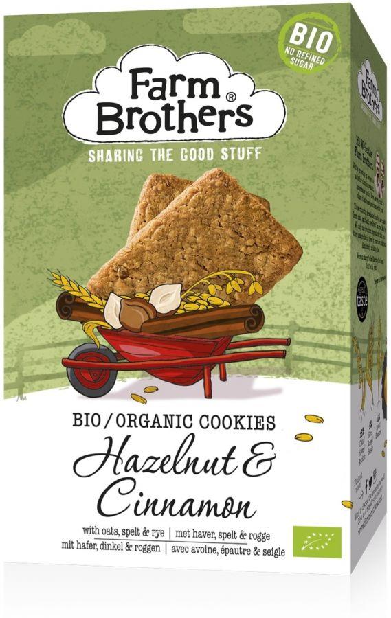 Farm Brothers Luomu hasselpähkinä & kaneli cookie 150 g