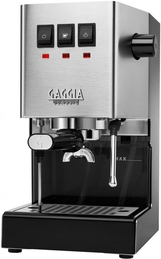 Gaggia New Classic espressokone, harjattu teräs