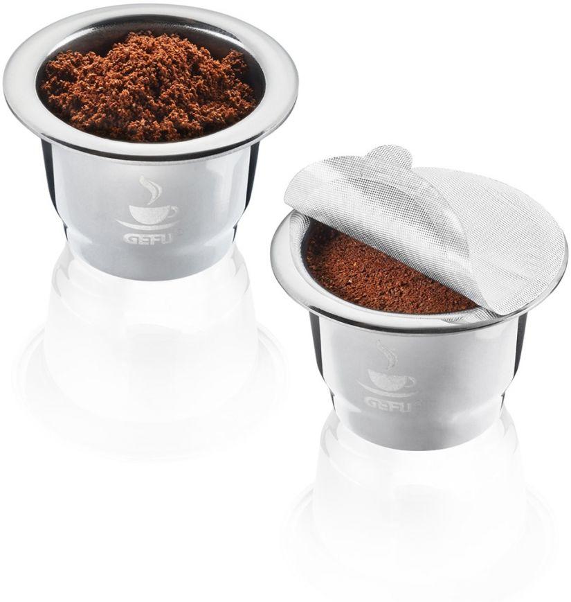 Gefu Conscio återanvändbara Nespresso-kompatibla kaffekapslar, 2 st
