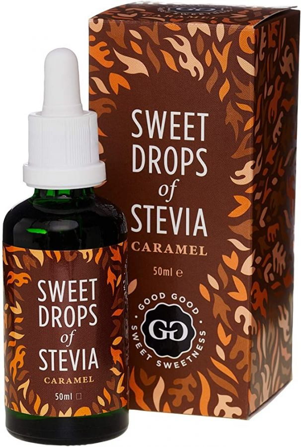 Good Good Sweet Drops Of Stevia makeutusaine, karamelli 50 ml
