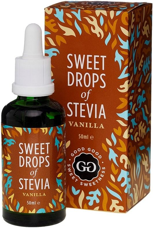 Good Good Sweet Drops Of Stevia makeutusaine, vanilja 50 ml