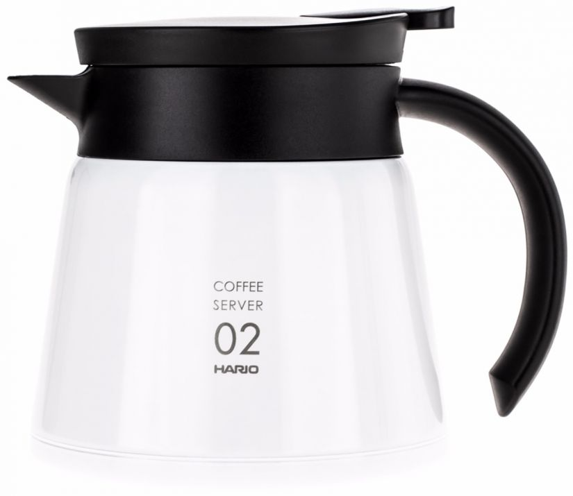 Hario V60 02 Insulated Stainless Steel Server 600 ml, valkoinen