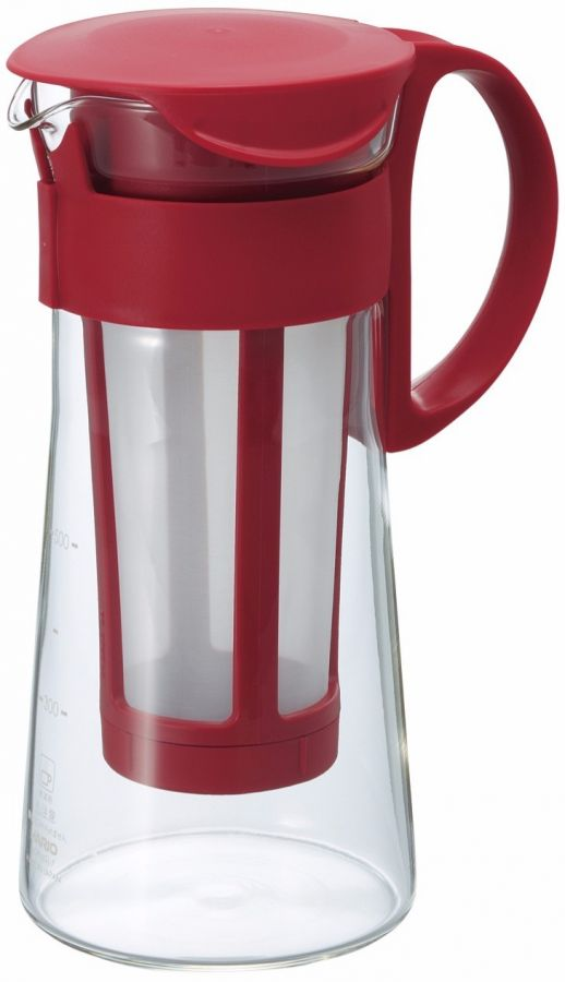 Hario Mizudashi Coffee Pot for Cold Brew 600 ml, red