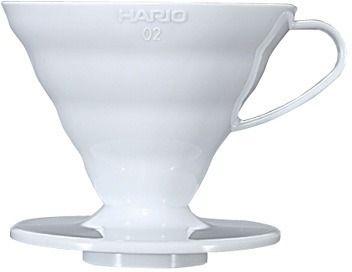 Hario V60 Dripper koko 02 keraaminen suodatinsuppilo, valkoinen