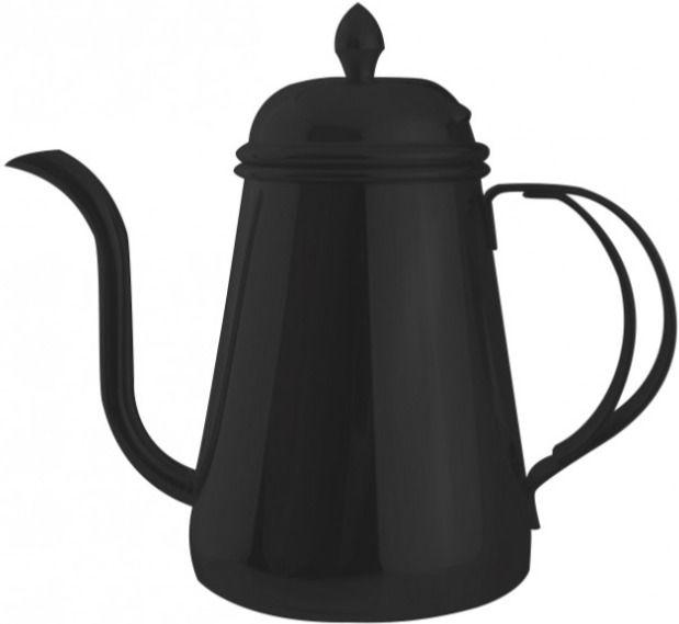 JoeFrex Drip Kettle kannellinen vesipannu 600 ml, musta