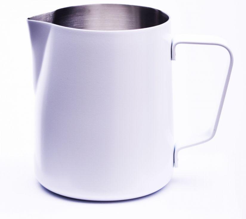 JoeFrex jauhemaalattu maidonvaahdotuskannu 590 ml, valkoinen