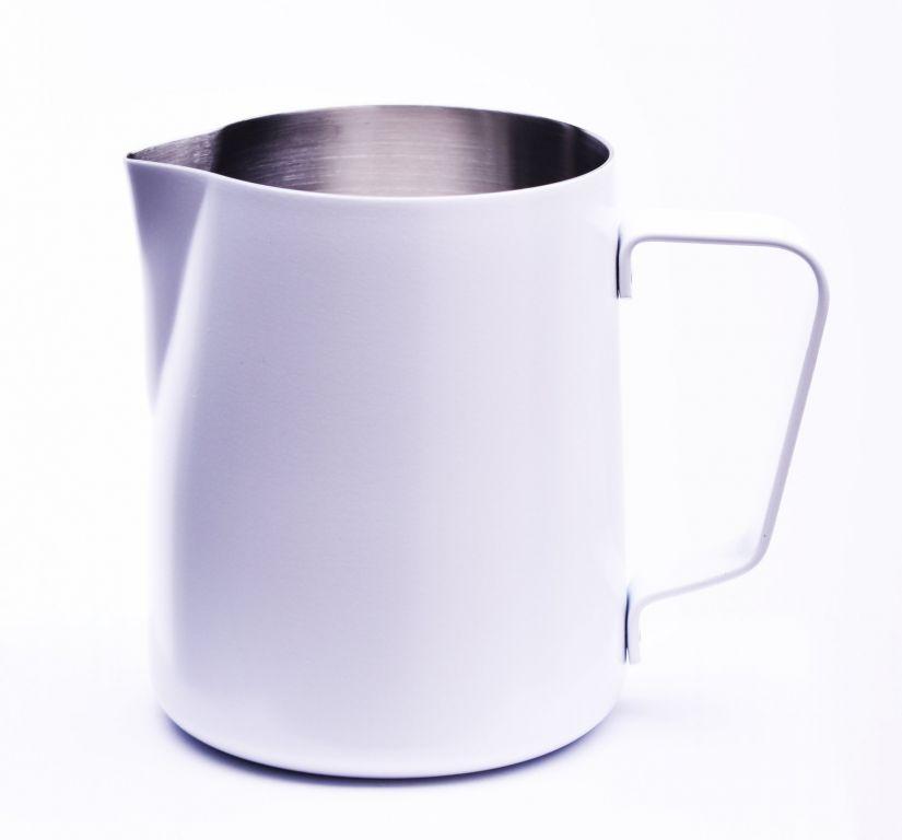 JoeFrex pulvermålad mjölkskumningskanna 350 ml, vit