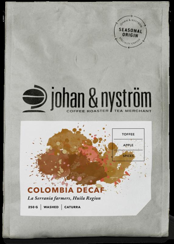Johan & Nyström Colombia Decaf 250 g kahvipavut