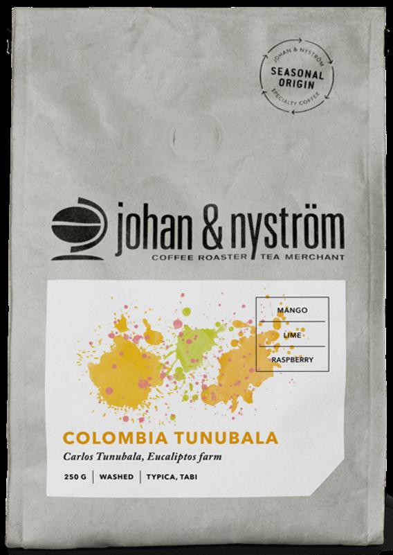 Johan & Nyström Colombia Tunubala 250 g kahvipavut