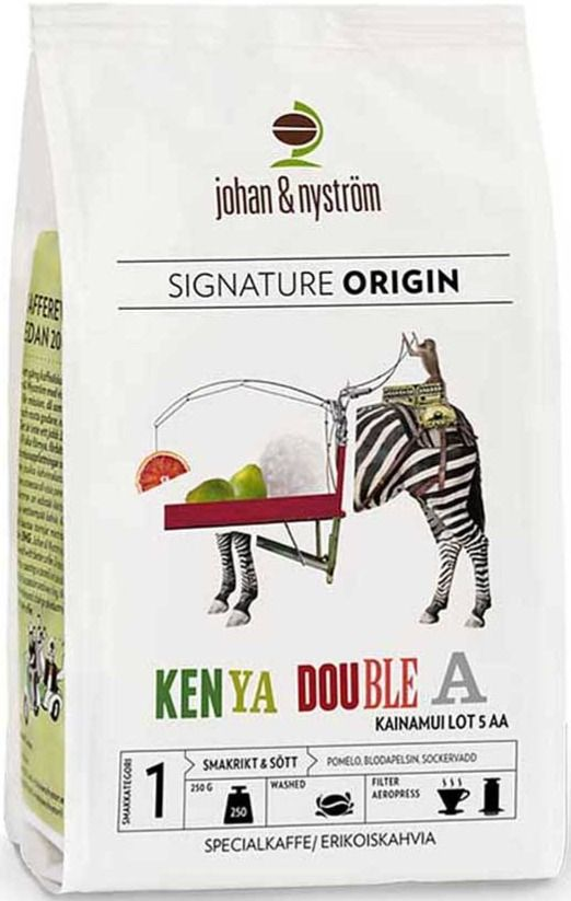 Johan & Nyström Kenya AA Kainamui 250 g kahvipapuja