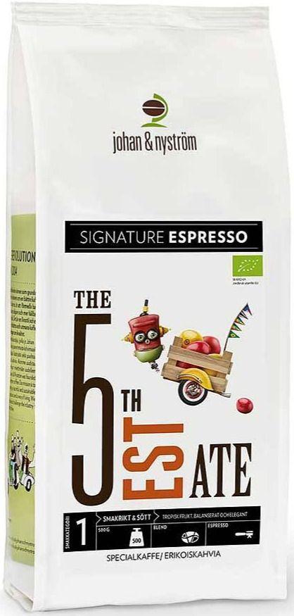 Johan & Nyström The 5th Estate Espresso 500 g kaffebönor