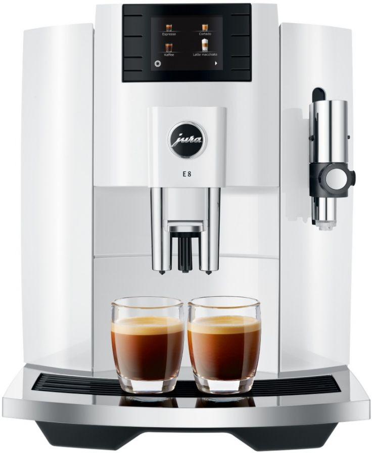 Jura E8 (EB) kahviautomaatti, Piano White