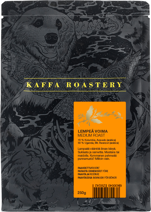 Kaffa Roastery Lempeä Voima 250 g kahvipavut