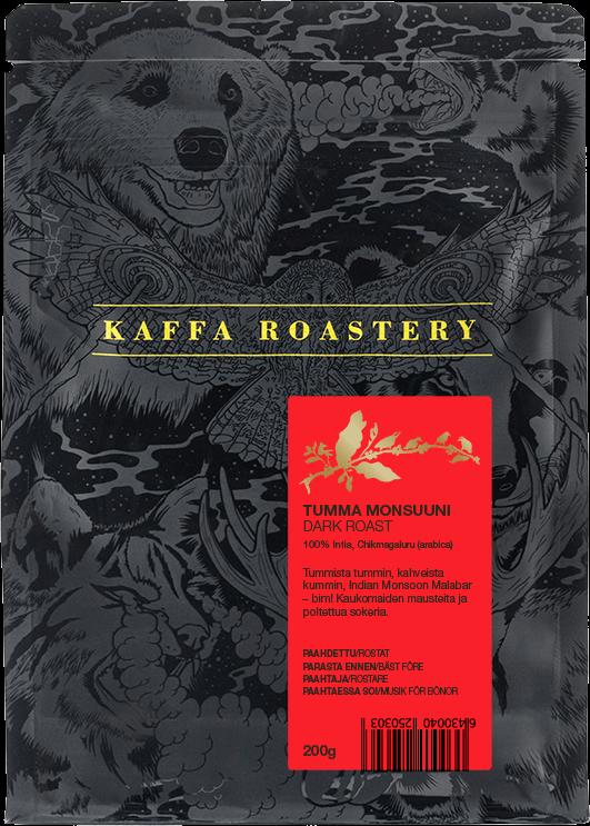 Kaffa Roastery Tumma Monsuuni 200 g kahvipavut