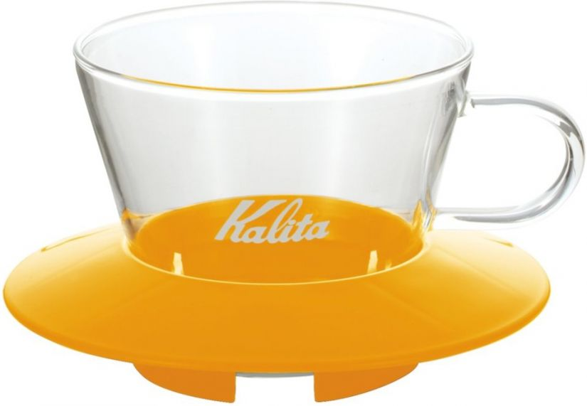 Kalita Wave #155 Glass Dripper lasinen suodatinsuppilo, keltainen